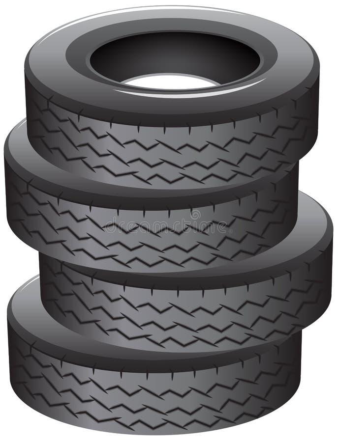 堆轮胎 向量例证
