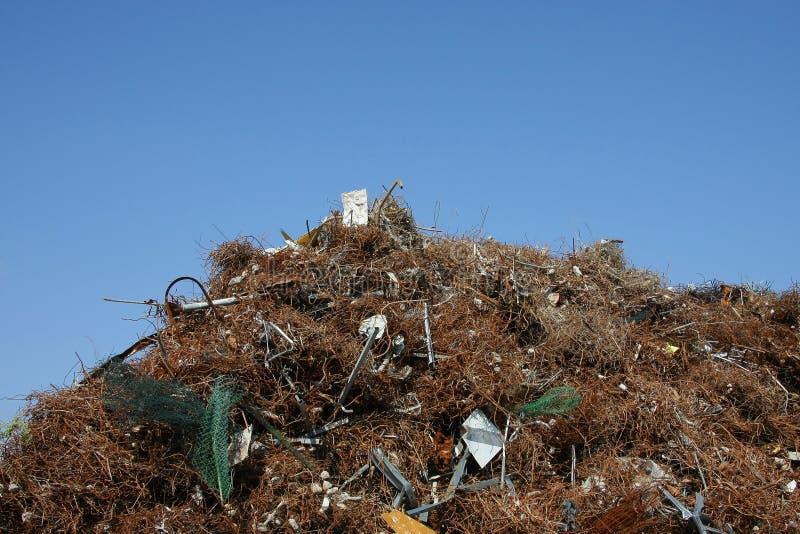 堆金属废料 免版税库存图片