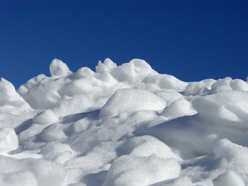 堆雪 免版税库存照片
