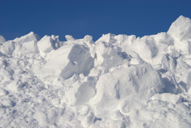 堆雪 免版税库存图片
