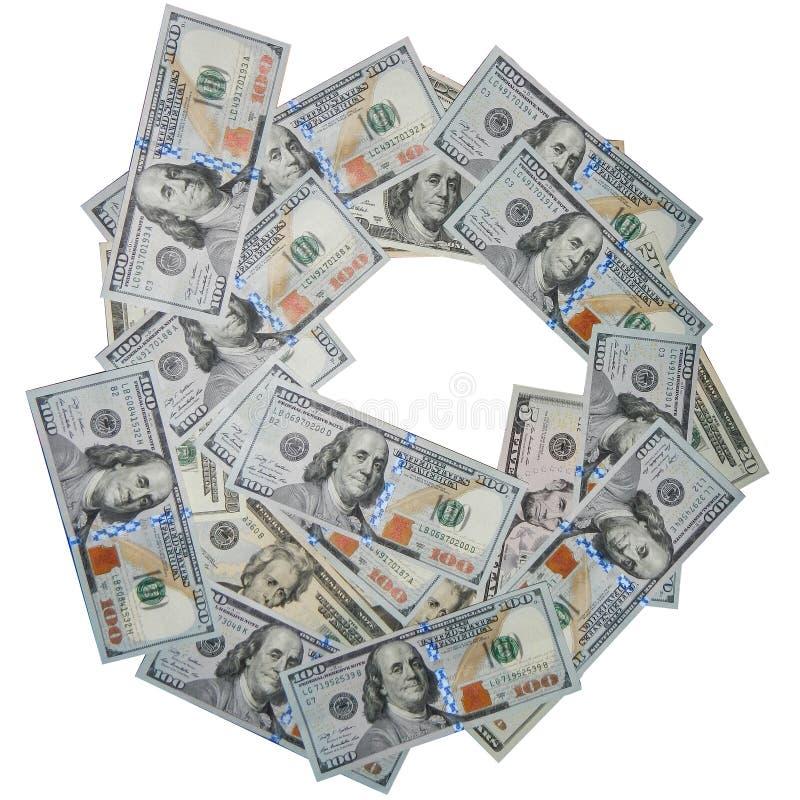 堆100美元,被隔绝 免版税库存图片