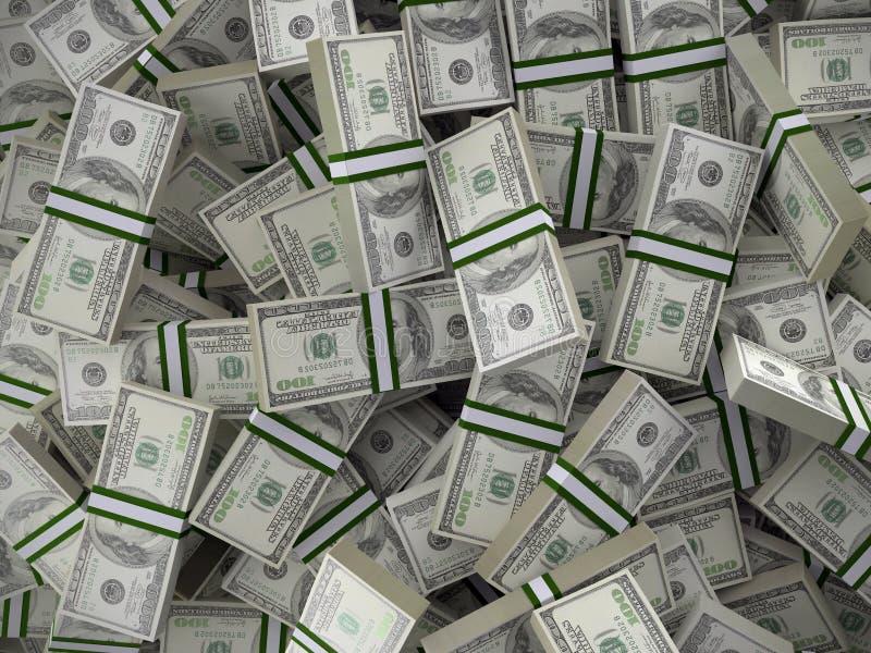 堆100美金一团 免版税库存照片