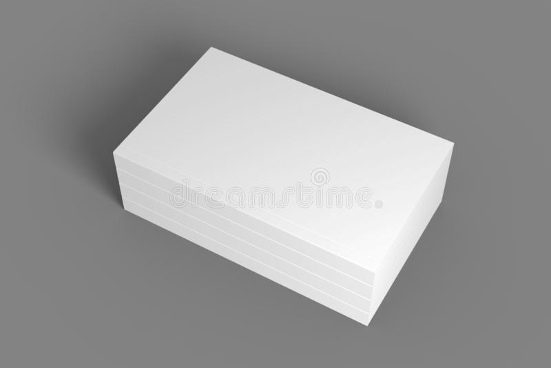 堆3D与盖子的例证书 免版税库存照片