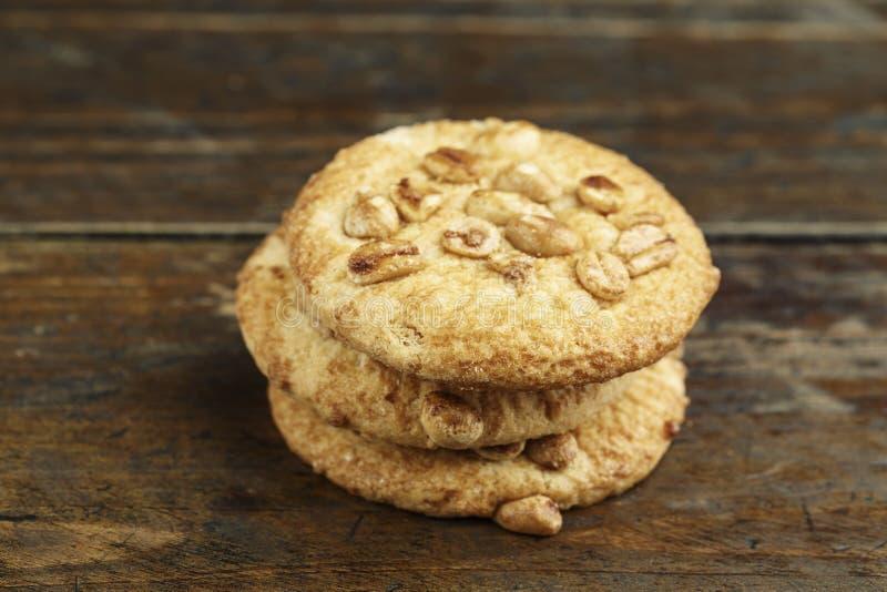 堆sweetmeal消化饼干 免版税库存照片