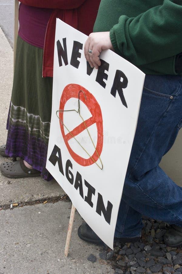 堕胎集会权利 库存照片