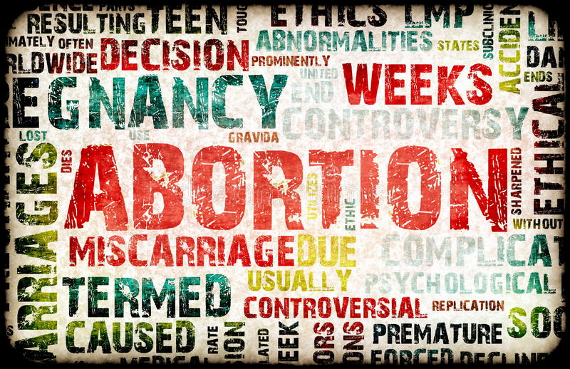 堕胎 向量例证
