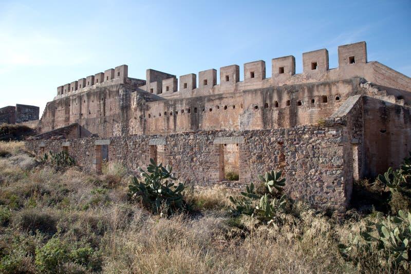 堡垒中世纪废墟 库存图片