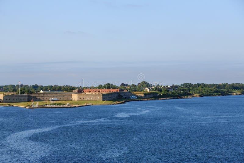 堡垒亚当斯在纽波特 库存照片
