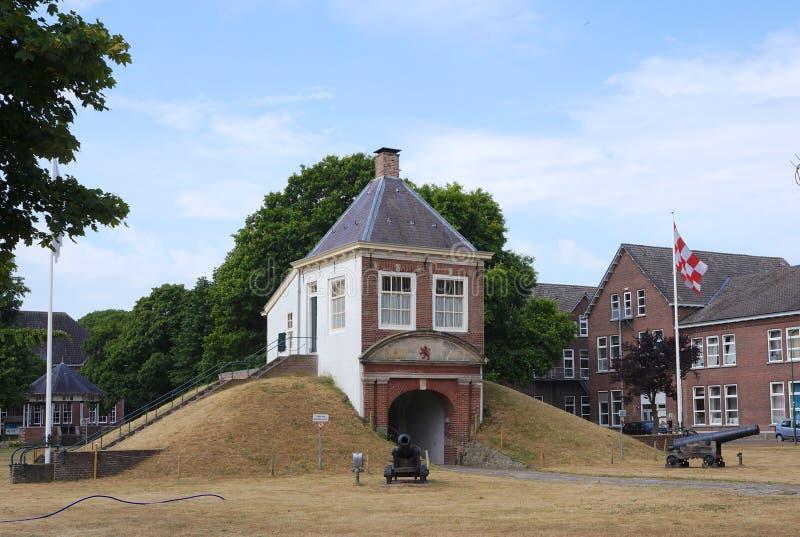 堡垒伊莎贝拉在Vught,荷兰 免版税库存图片
