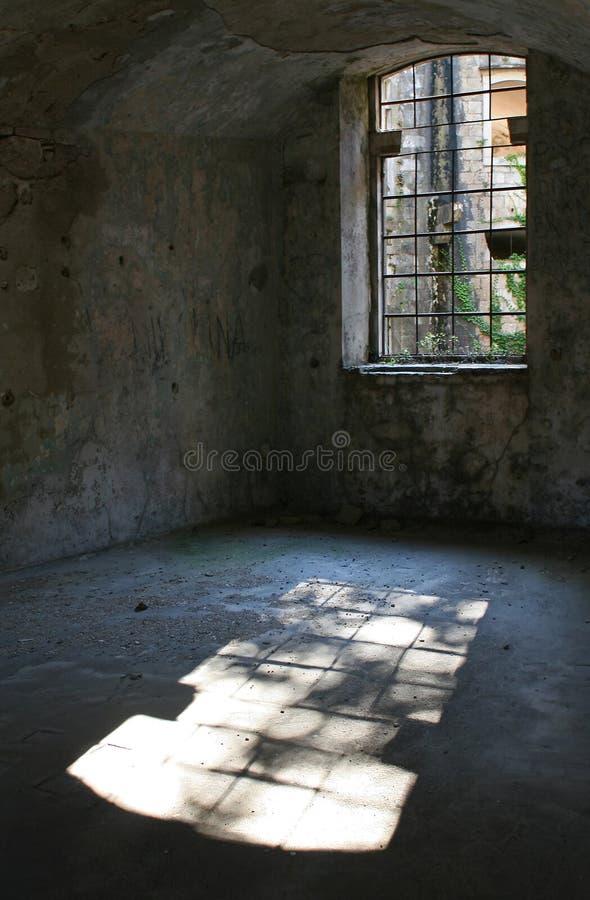 堡垒内部老空间 库存图片