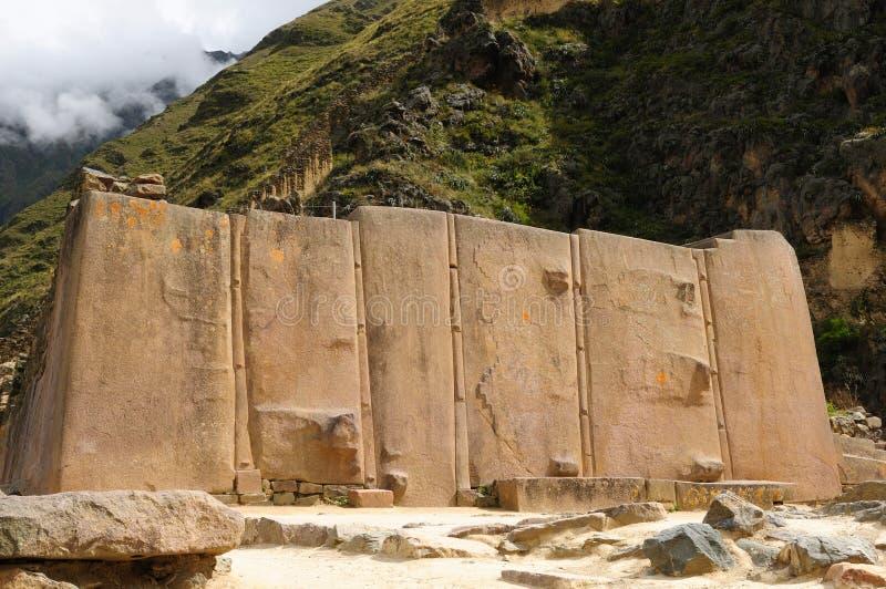 堡垒印加人ollantaytambo秘鲁神圣的谷 免版税库存照片