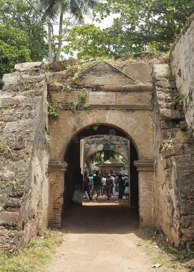 堡垒和监狱在Negombo斯里兰卡 库存图片