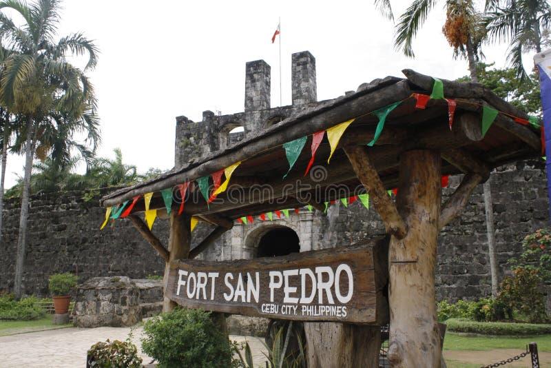 堡垒圣佩德罗火山-宿雾 免版税库存照片