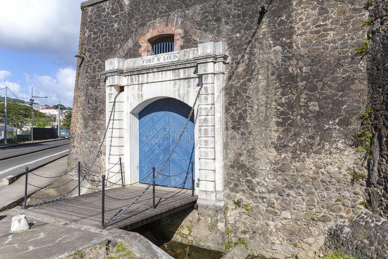 堡垒圣路易在堡垒de法国,马提尼克岛 免版税图库摄影