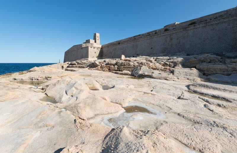 堡垒圣Elmo瓦莱塔,马耳他 库存图片