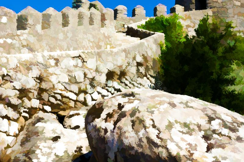堡垒在葡萄牙 库存照片