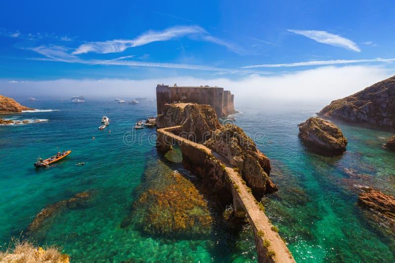 堡垒在Berlenga海岛-葡萄牙 库存照片
