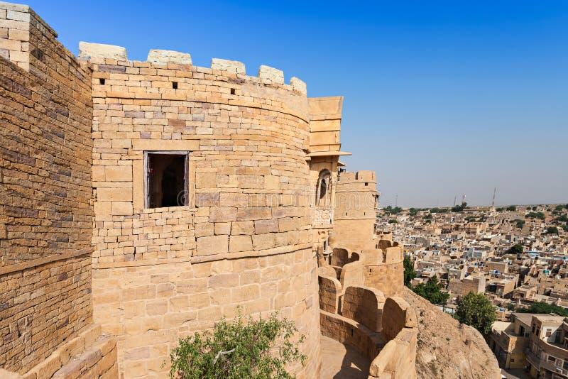 堡垒在Jaisalmer 免版税库存照片