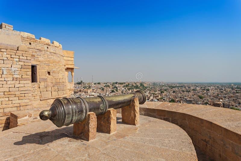 堡垒在Jaisalmer 库存照片