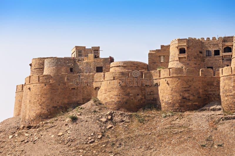 堡垒在Jaisalmer 图库摄影
