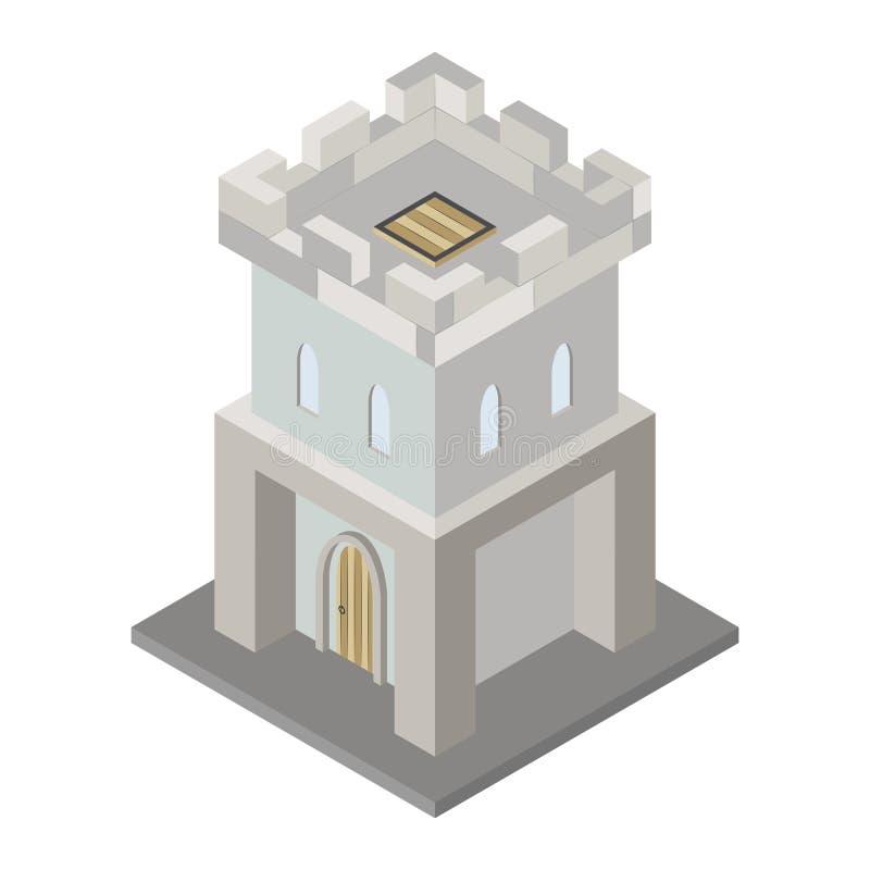 堡垒塔的象 皇族释放例证