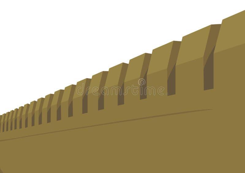 堡垒墙壁 皇族释放例证