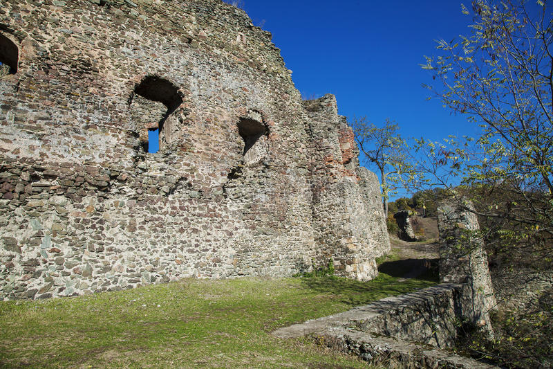 堡垒废墟 免版税库存照片