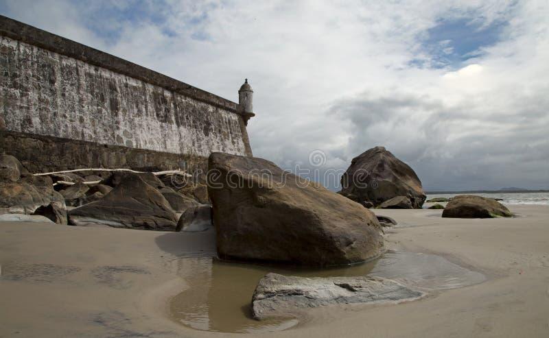 堡垒我们的娼妓-蜂蜜海岛巴西 免版税库存图片