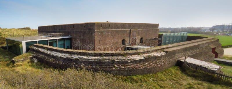 堡垒拿破仑,奥斯坦德,比利时全景  免版税图库摄影