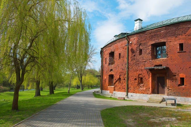 堡垒的塔有发射孔的 免版税库存照片