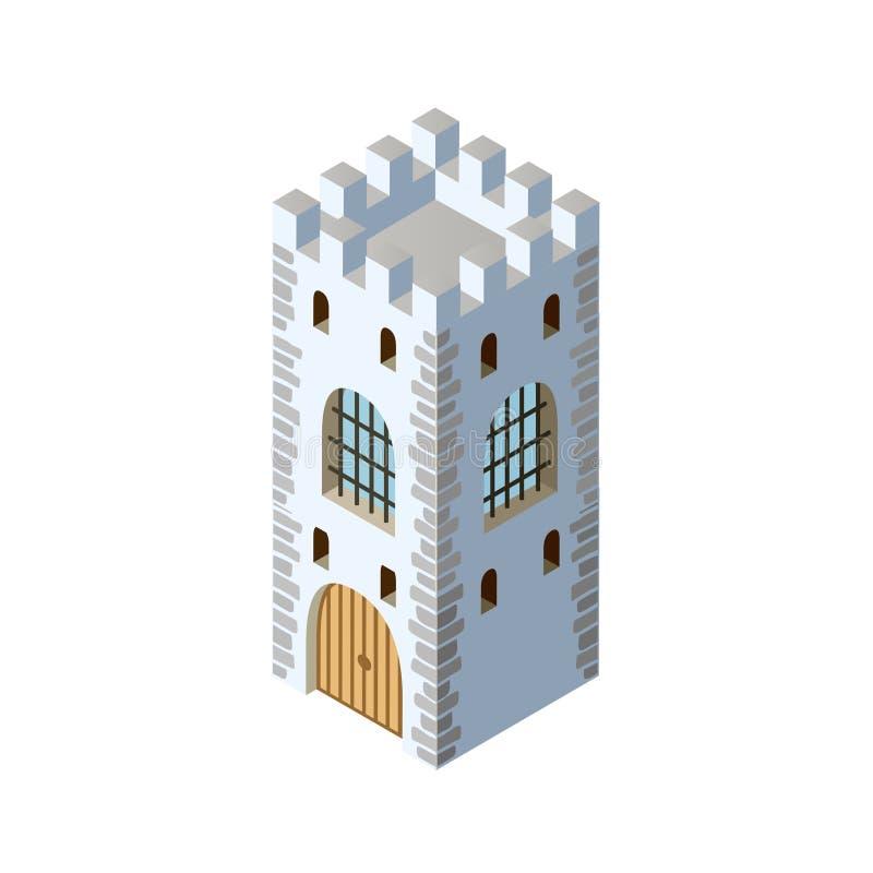 堡垒等量堡垒的城堡 皇族释放例证