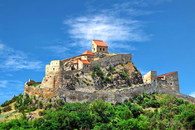 堡垒罗马尼亚rupea 库存照片