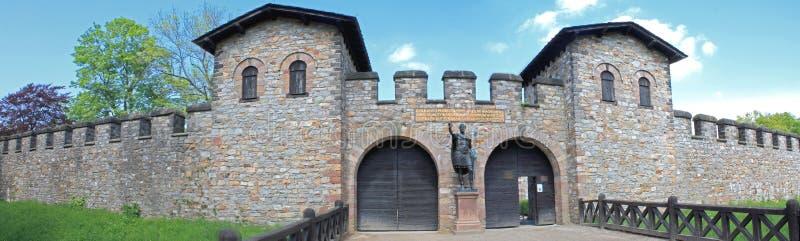 堡垒罗马saalburg 免版税库存图片