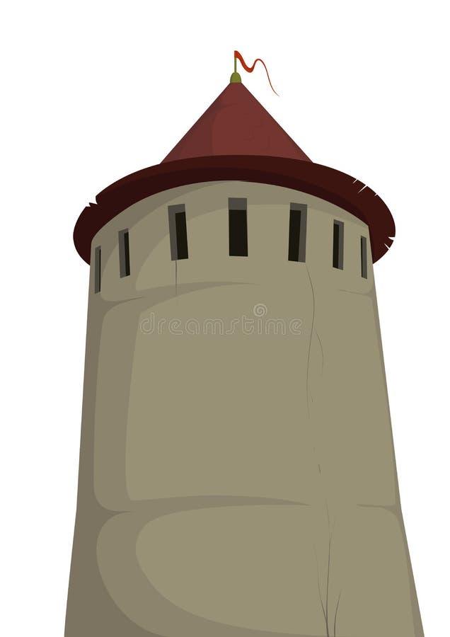 堡垒老塔 向量例证