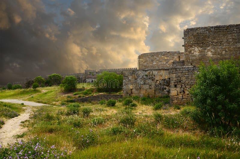 堡垒老墙壁 免版税库存照片
