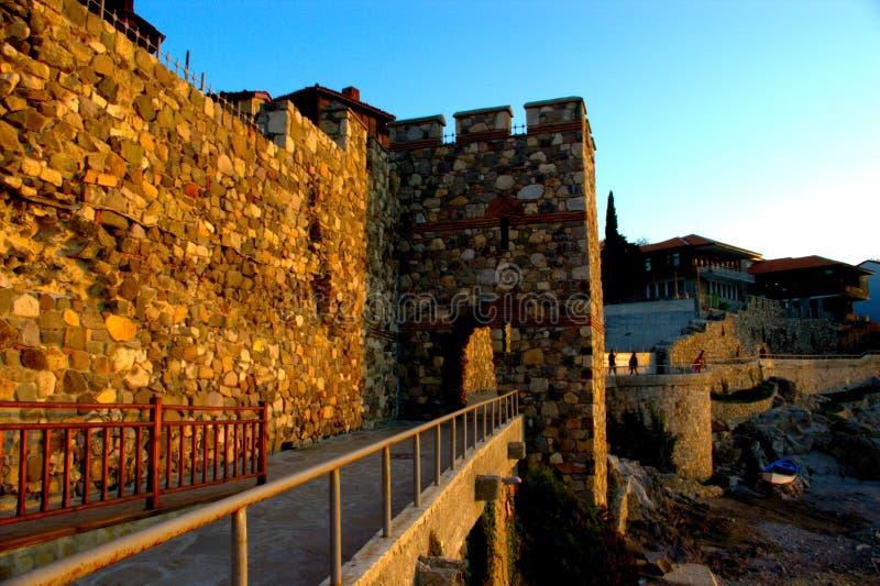 堡垒老sozopol 免版税库存照片