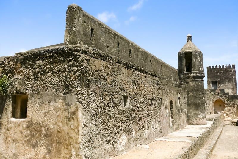 堡垒耶稣废墟在蒙巴萨 免版税库存图片