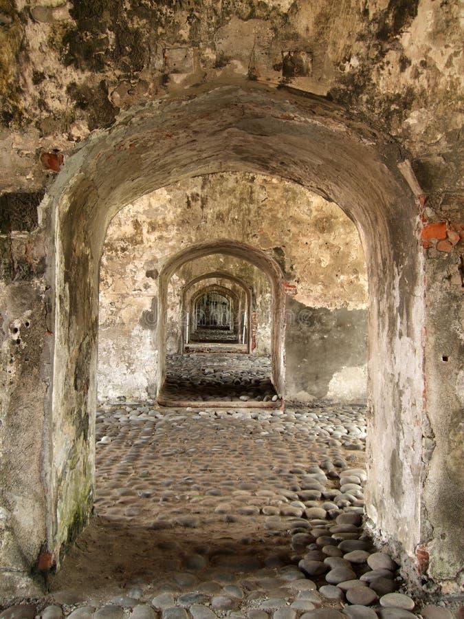 堡垒走廊军人 库存图片