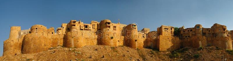 堡垒金黄jaisalmer 库存照片