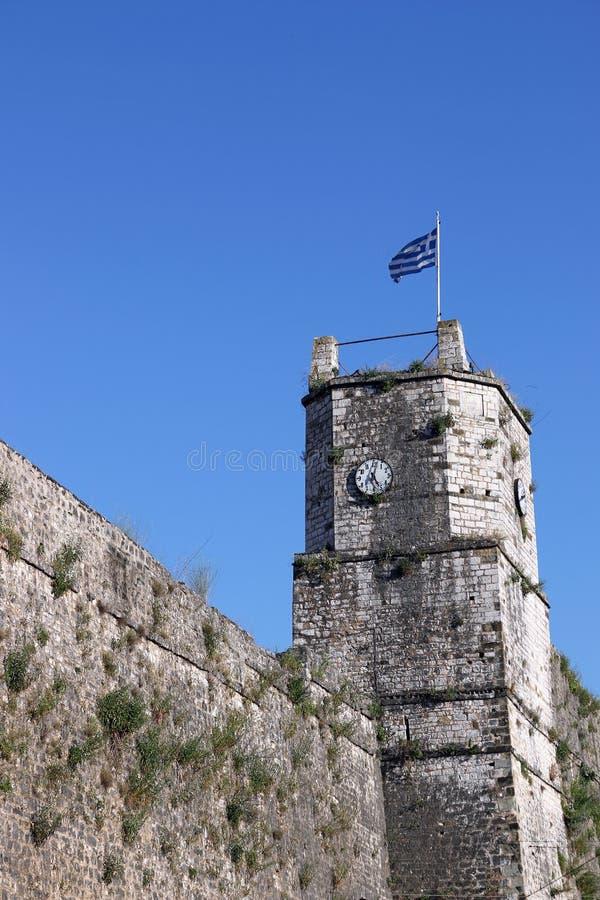 堡垒钟楼约阿尼纳 库存照片
