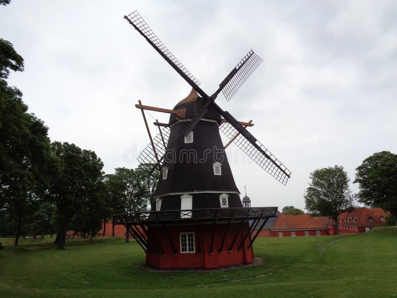 堡垒风车 库存图片