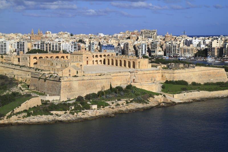 堡垒马努埃尔在瓦莱塔,马耳他 免版税库存图片