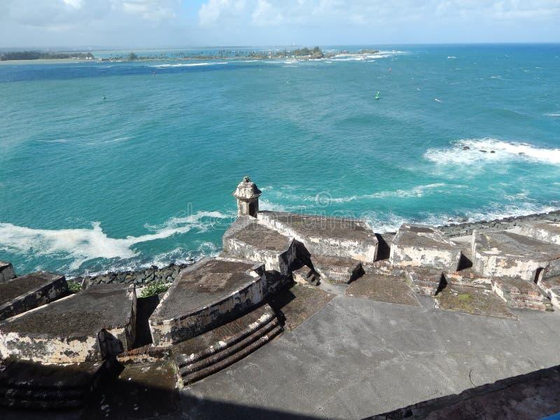 堡垒/卡斯蒂略de圣Cristobel在圣胡安,波多黎各 免版税库存图片