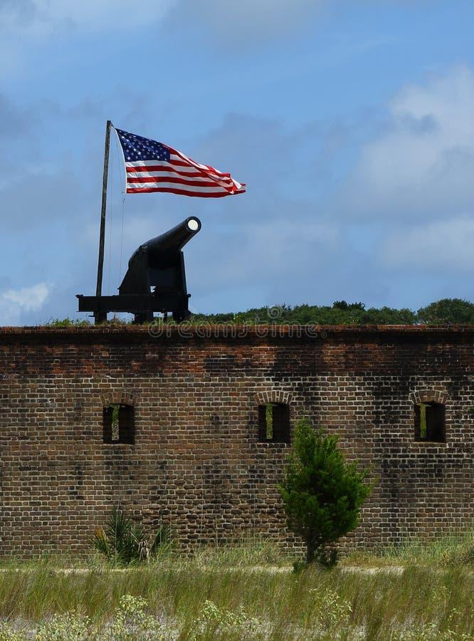 堡垒紧抱国家公园 库存图片