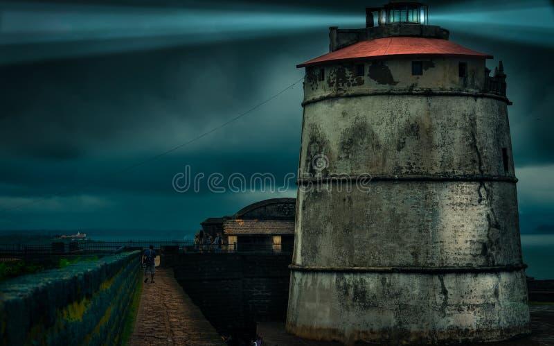 堡垒Aguada,果阿 库存图片
