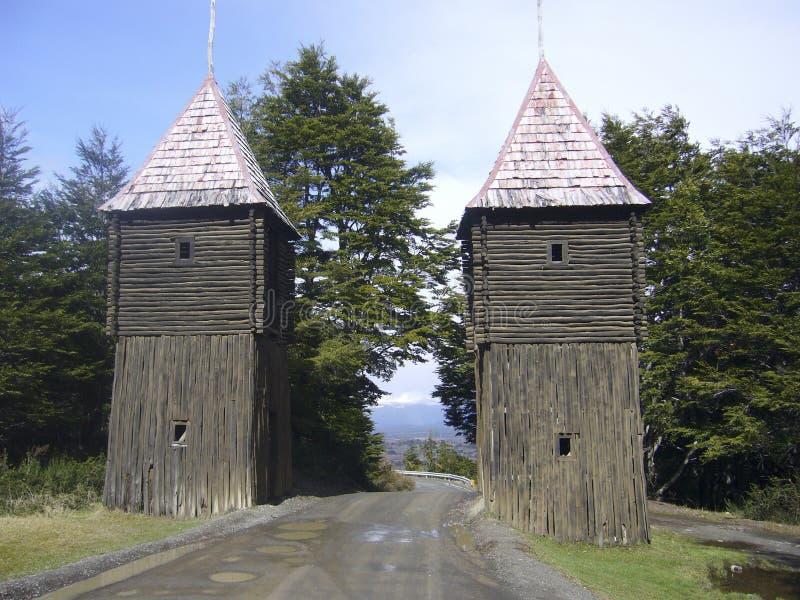 堡垒Bulnes智利 免版税库存图片
