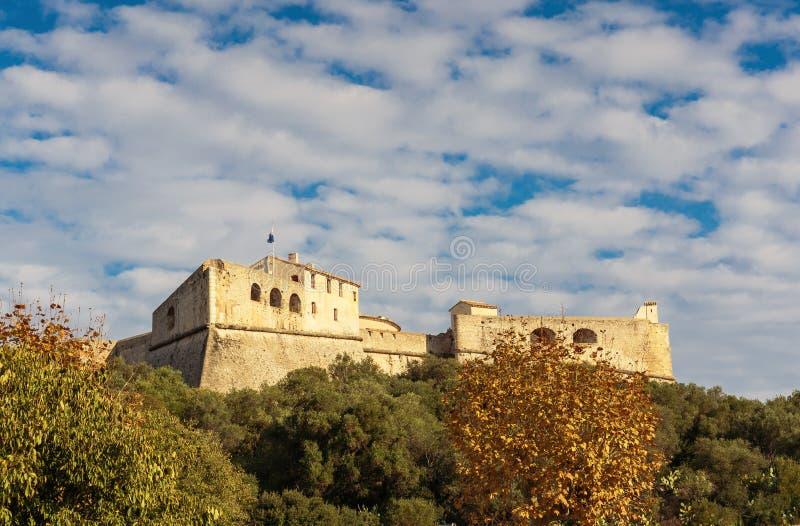 堡垒Carre墙壁在安地比斯 库存照片
