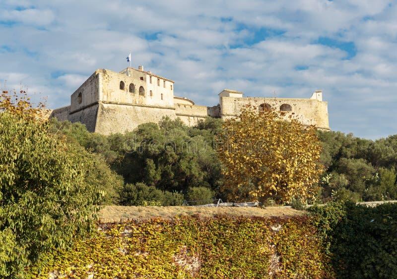 堡垒Carre墙壁在安地比斯 免版税库存照片