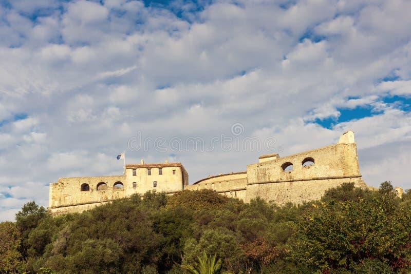 堡垒Carre墙壁在安地比斯 免版税库存图片