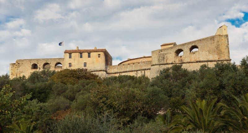 堡垒Carre墙壁在安地比斯 免版税图库摄影